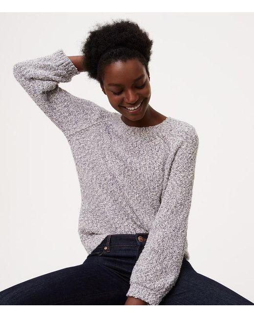 LOFT | Multicolor Petite Marled Sweatshirt Sweater | Lyst