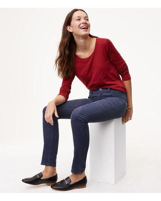 LOFT | Multicolor Petite Modern Skinny Corduroy Pants | Lyst