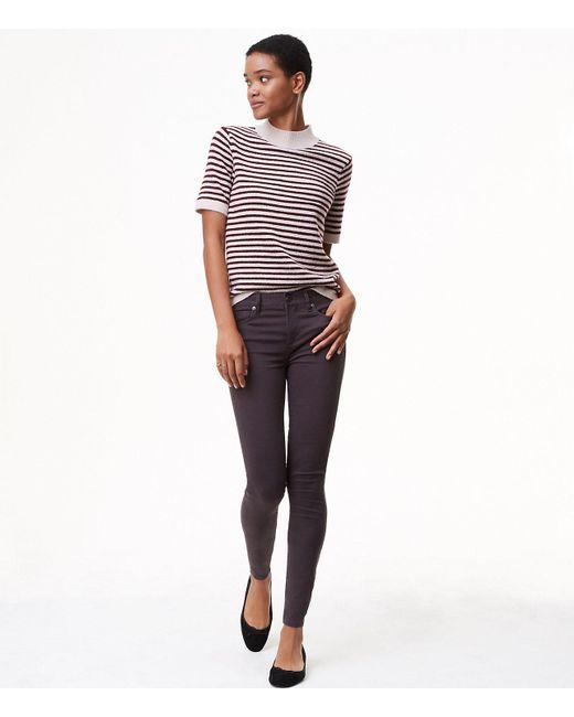LOFT | Gray Maternity Sateen Five Pocket Leggings | Lyst