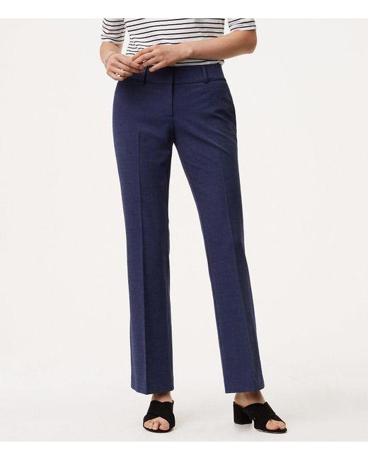 LOFT - Blue Trousers In Custom Stretch In Julie Fit With 31 Inch Inseam - Lyst