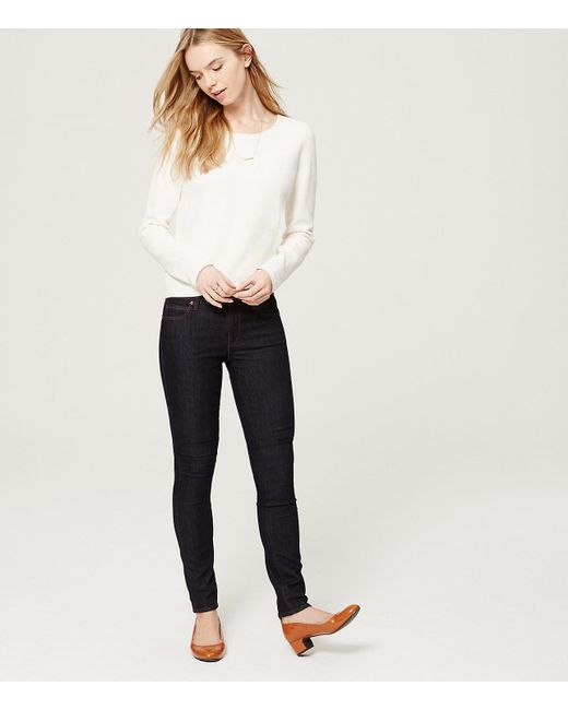 LOFT - Blue Tall Modern Skinny Jeans In Dark Rinse Wash - Lyst