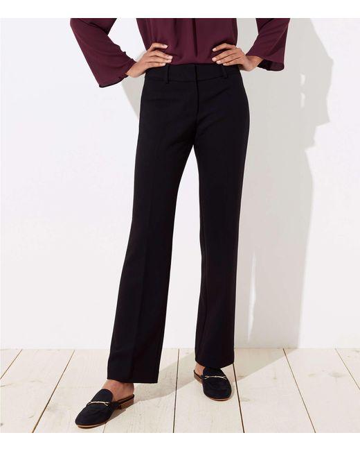 LOFT - Black Tall Trousers In Doubleweave In Julie Fit - Lyst