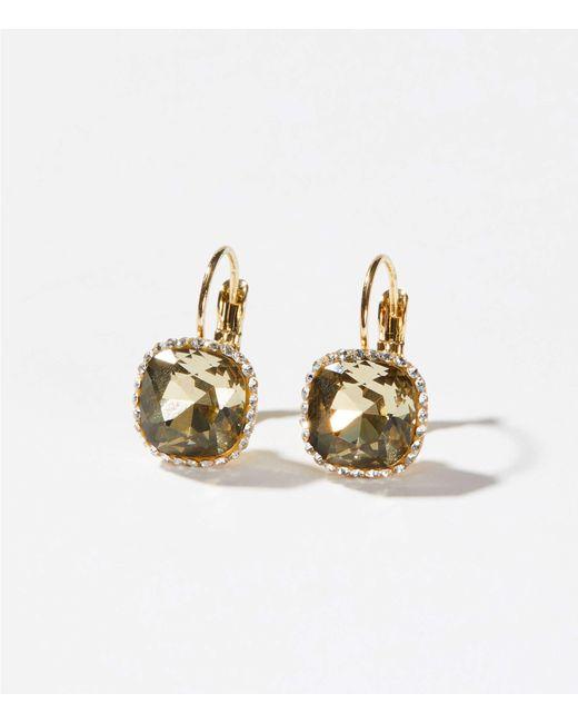 LOFT - Multicolor Pave Stone Drop Earrings - Lyst