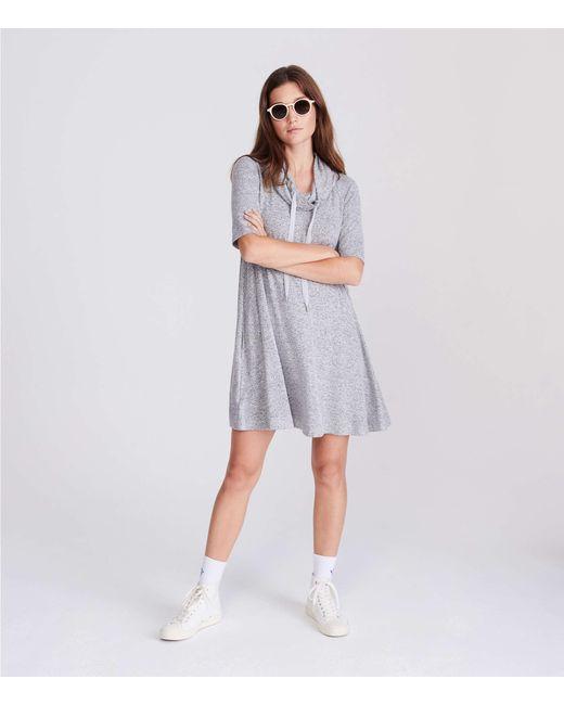 LOFT - Gray Lou & Grey Drawstring Cowl Dress - Lyst