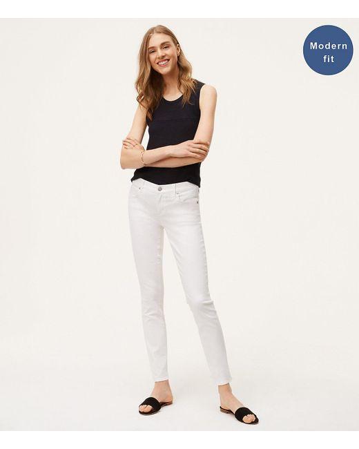 LOFT - Petite Modern Skinny Jeans In White - Lyst
