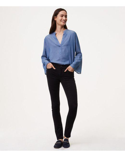 LOFT | Black Tall Modern Skinny Corduroy Pants | Lyst