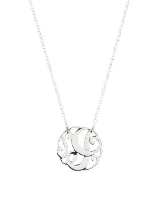 Lord & Taylor - Metallic Sterling Silver I Initial Pendant Necklace - Lyst