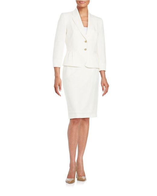 tahari two button jacket and pencil skirt suit set