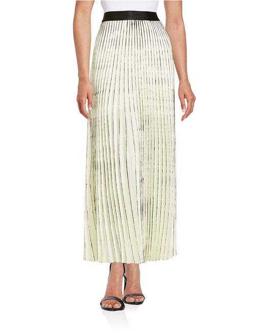 bailey 44 pleated maxi skirt in white save 56