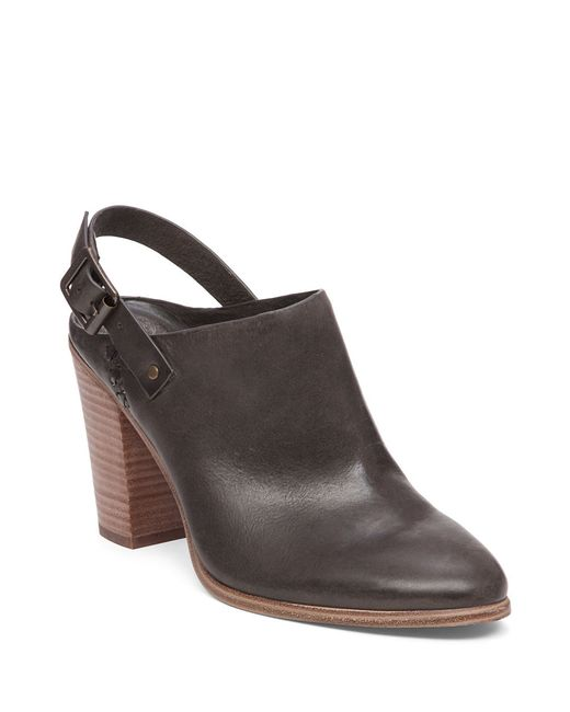 Vince Camuto | Brown Leather Shooties With Adjustable Ankle Buckle | Lyst
