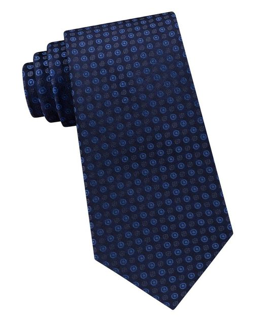 CALVIN KLEIN 205W39NYC - Blue Embroidered Silk Tie for Men - Lyst