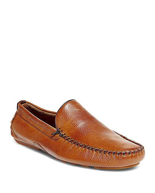 Steve Madden | Brown Leather Slip-on Moccasins | Lyst