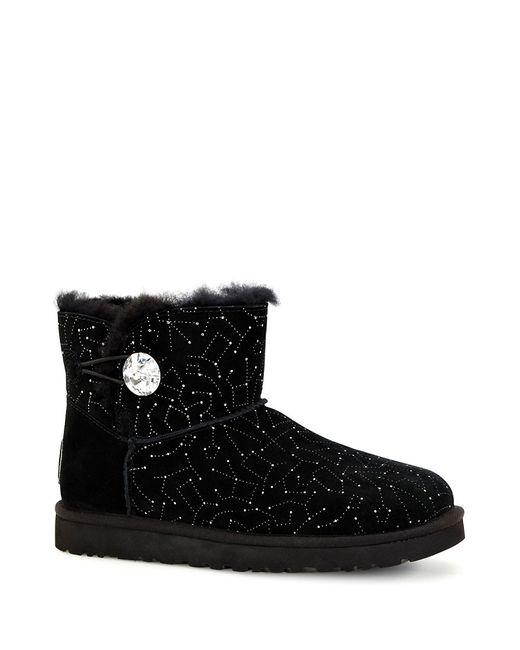 black faux fur ugg boots