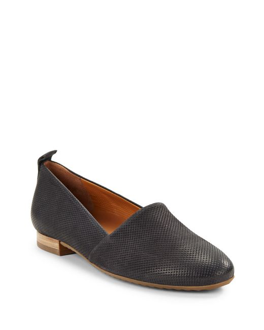 paul green anita perforated suede loafers in black save 7 lyst. Black Bedroom Furniture Sets. Home Design Ideas