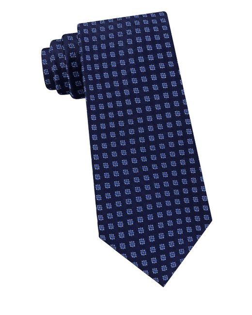 Michael Kors - Blue Four Point Square Neat Silk Tie for Men - Lyst