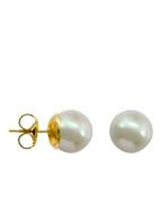 Majorica | White Manmade Organic Pearl Stud Earrings | Lyst