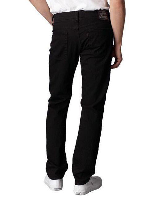 levi 39 s 511 slim fit black stretch jeans in black for men. Black Bedroom Furniture Sets. Home Design Ideas