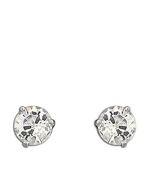 Swarovski | Metallic Solitaire Crystal Stud Earrings | Lyst