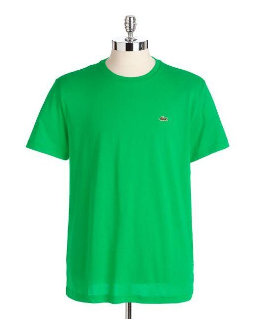 Lacoste | Green Cotton Crewneck Tee for Men | Lyst