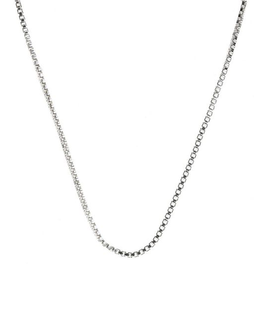 Lord & Taylor | Gray Sterling Silver Chain Necklace | Lyst