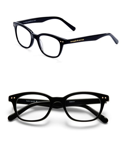 kate spade new york | Black Rebec Tortoise-print Eyeglasses | Lyst