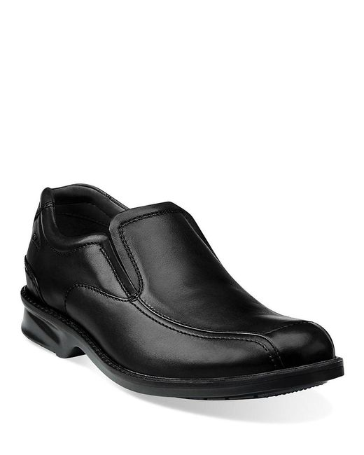 Clarks | Black Colson Knoll Leather Loafers for Men | Lyst