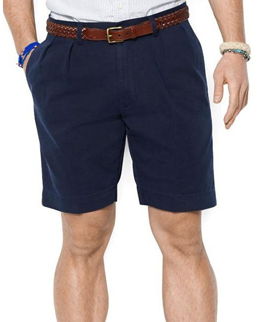 Polo Ralph Lauren | Blue Classic-fit Pleated 9 Inch Chino Shorts for Men | Lyst