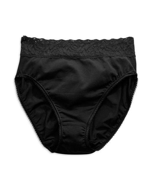 Wacoal | Black Cotton Suede High-cut Brief | Lyst