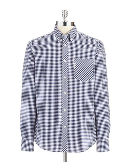 Ben Sherman | Blue Gingham Plaid Shirt for Men | Lyst