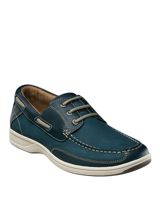 Florsheim | Blue Lakeside Leather Oxford Boat Shoes for Men | Lyst