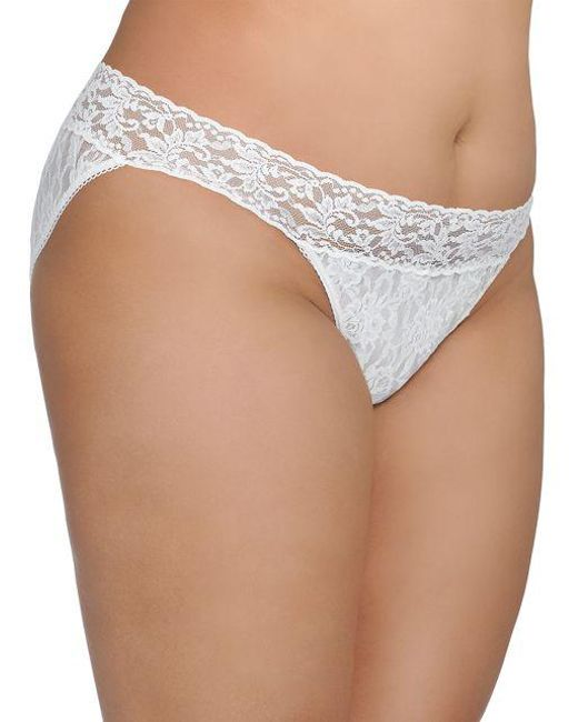 Hanky Panky | White Plus Lace V Kini Panty | Lyst