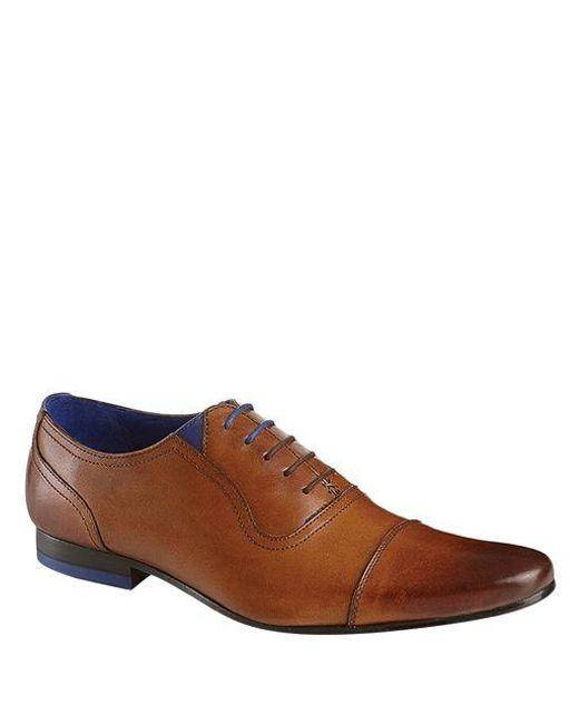 Ted Baker   Brown Rogrr Leather Oxfords for Men   Lyst