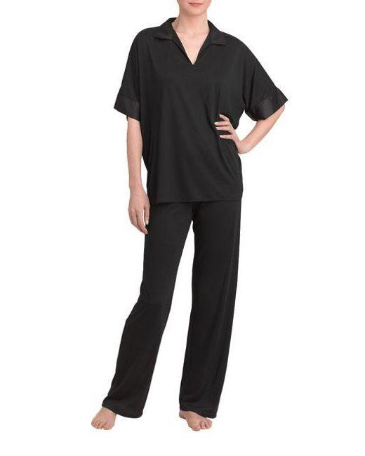 N Natori   Black 2-piece Tunic Pajamas   Lyst