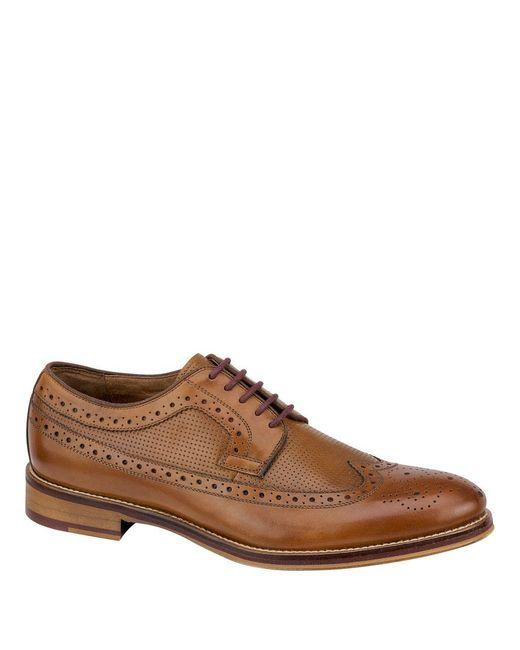 Johnston & Murphy | Brown Conard Leather Brogue Wingtip Oxfords for Men | Lyst