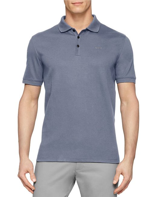 Calvin Klein   Blue Pima Polo Shirt for Men   Lyst