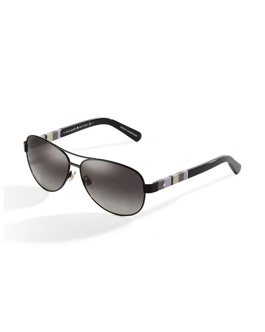 kate spade new york | Black Dalias 58mm Aviator Sunglasses | Lyst
