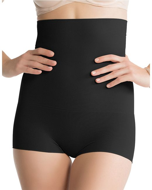 Spanx | Black Seamless High-waisted Power Short | Lyst