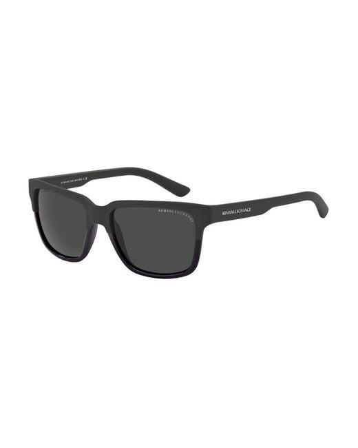 Armani Exchange   Black Wayfarer Sunglasses for Men   Lyst