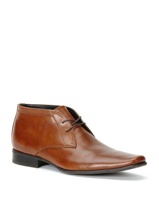 Calvin Klein   Brown Ballard Leather Chukkas for Men   Lyst