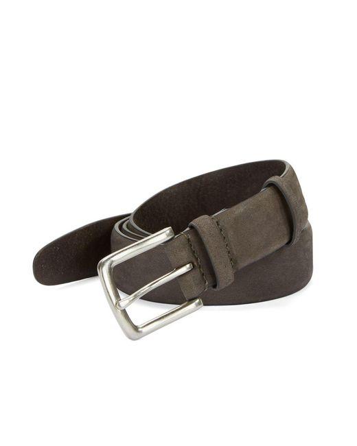 John Varvatos   Gray Burnished Leather Belt for Men   Lyst