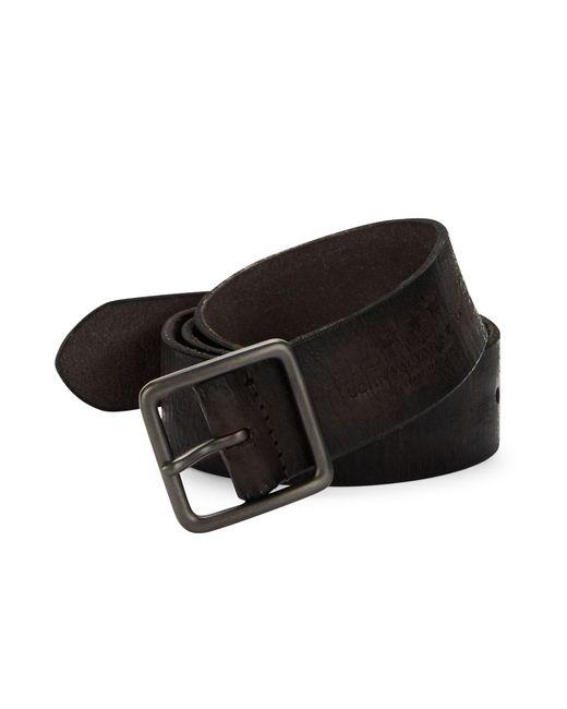 John Varvatos   Brown Herringbone Textured Leather Belt for Men   Lyst