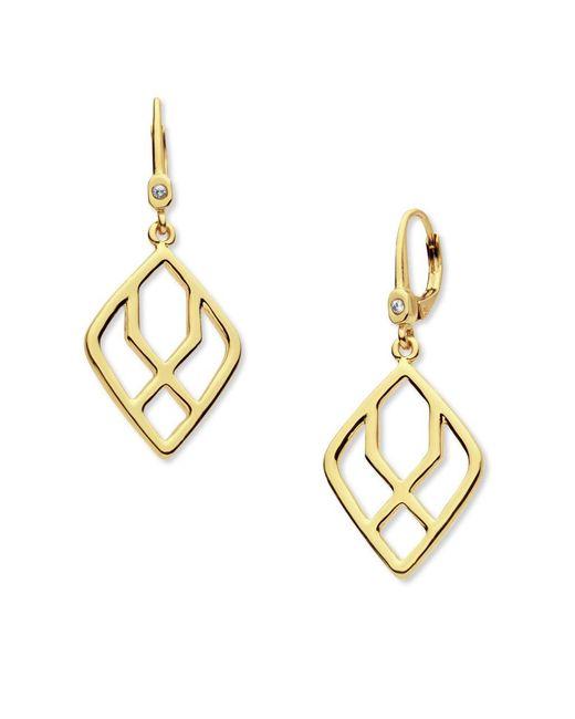 Ivanka Trump | Metallic Goldtone Geometric Open Drop Earrings | Lyst