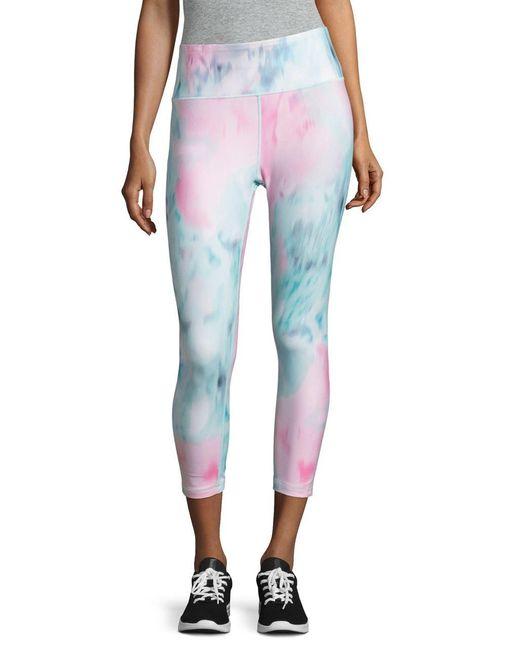 Nanette Lepore   Blue Watercolor Athletic Capri Leggings   Lyst