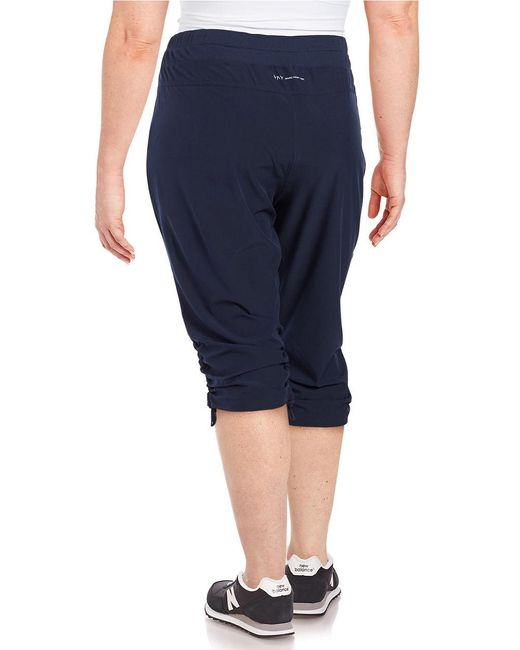 New York Performance: Marc New York Cropped Ruched Performance Pants In Blue