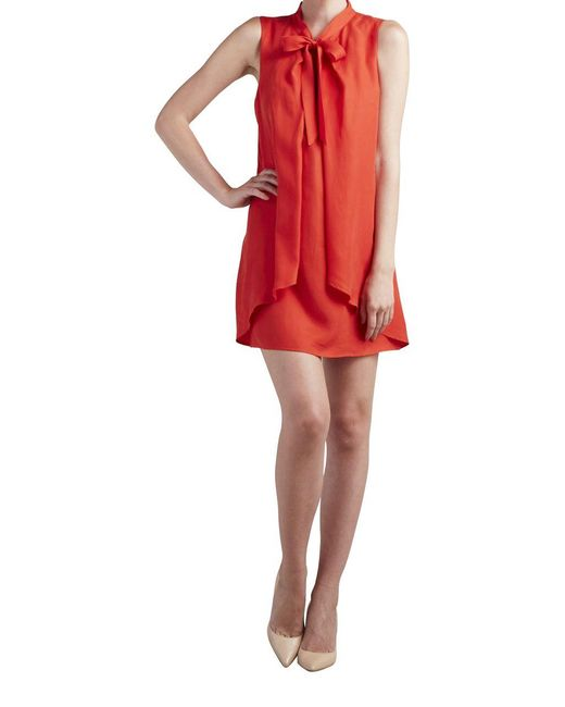 Paper Crown | Red Solid Coronado Dress | Lyst