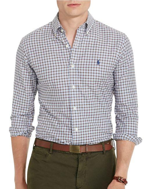 Polo Ralph Lauren | Blue Checked Twill Sport Shirt for Men | Lyst