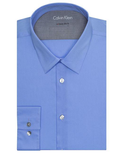 Calvin Klein | Blue Extreme Slim Fit Dress Shirt for Men | Lyst