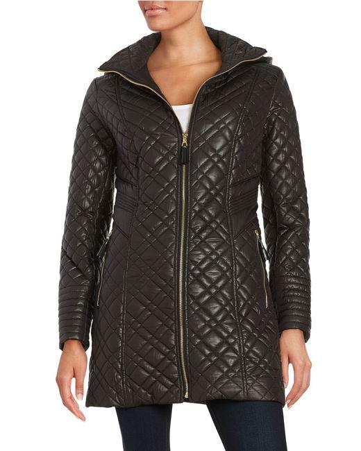Via Spiga | Black Plus Zip-front Quilted Jacket | Lyst
