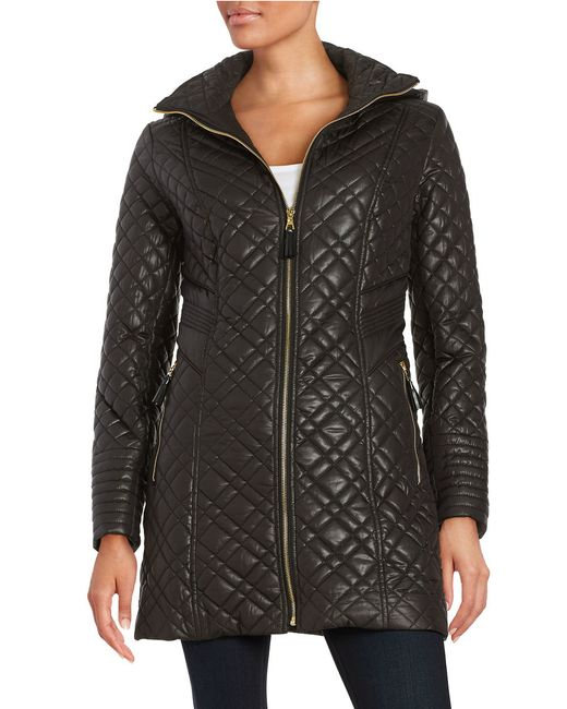 Via Spiga | Black Plus Zip-front Quilted Jacket | Lyst