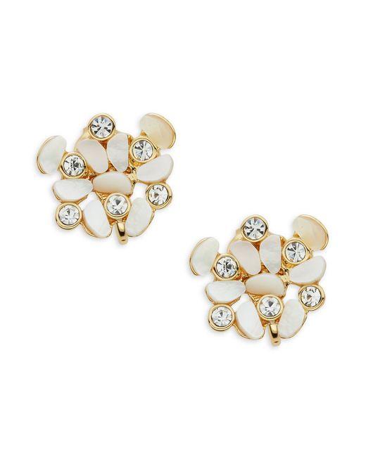 kate spade disco pansy cluster clip earrings in metallic